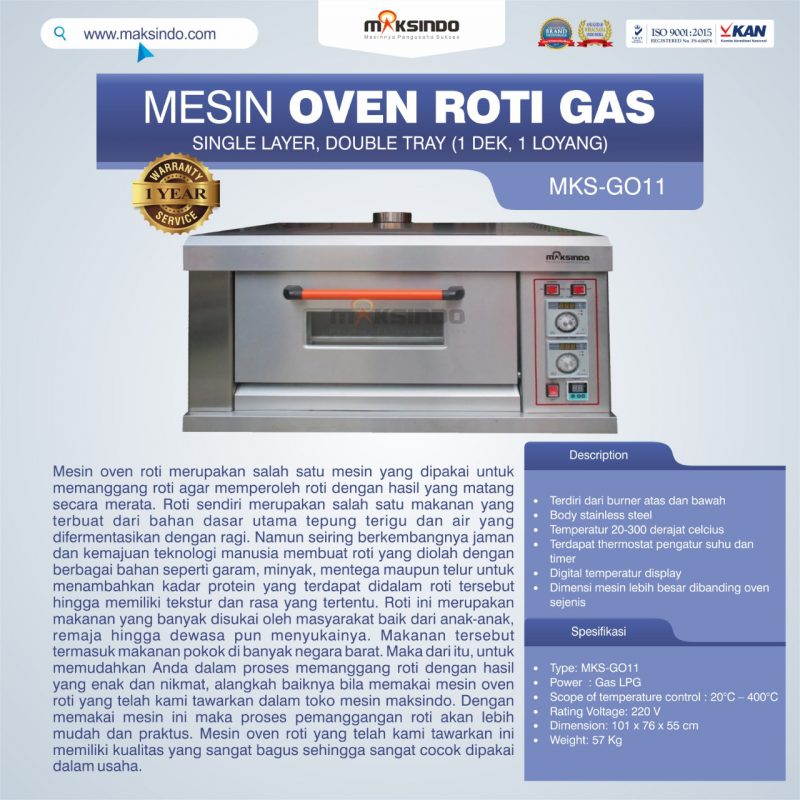 HOT DEAL Mesin Oven Roti Gas (MKS-GO11)