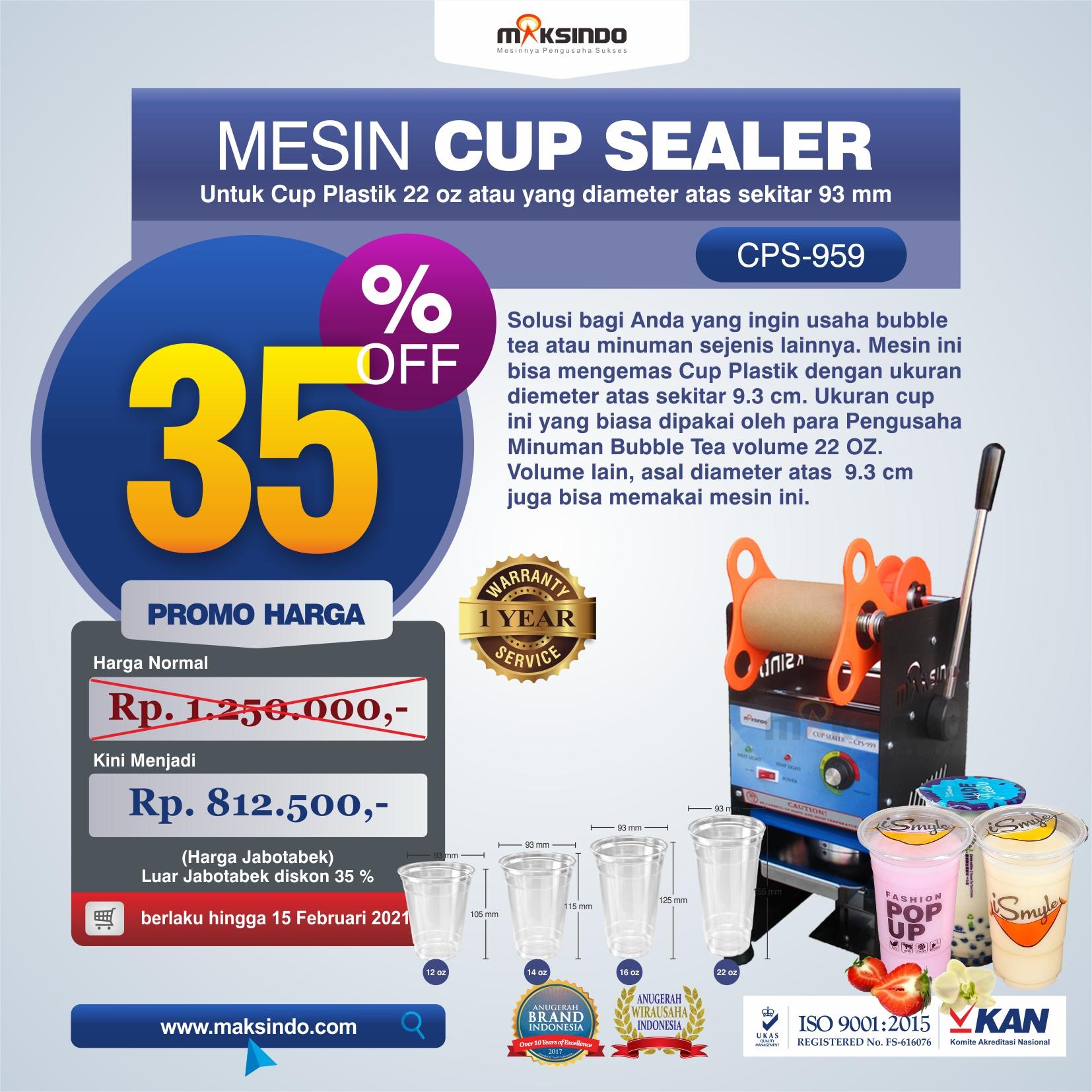 Jual Mesin Cup Sealer CPS-959 di Tangerang