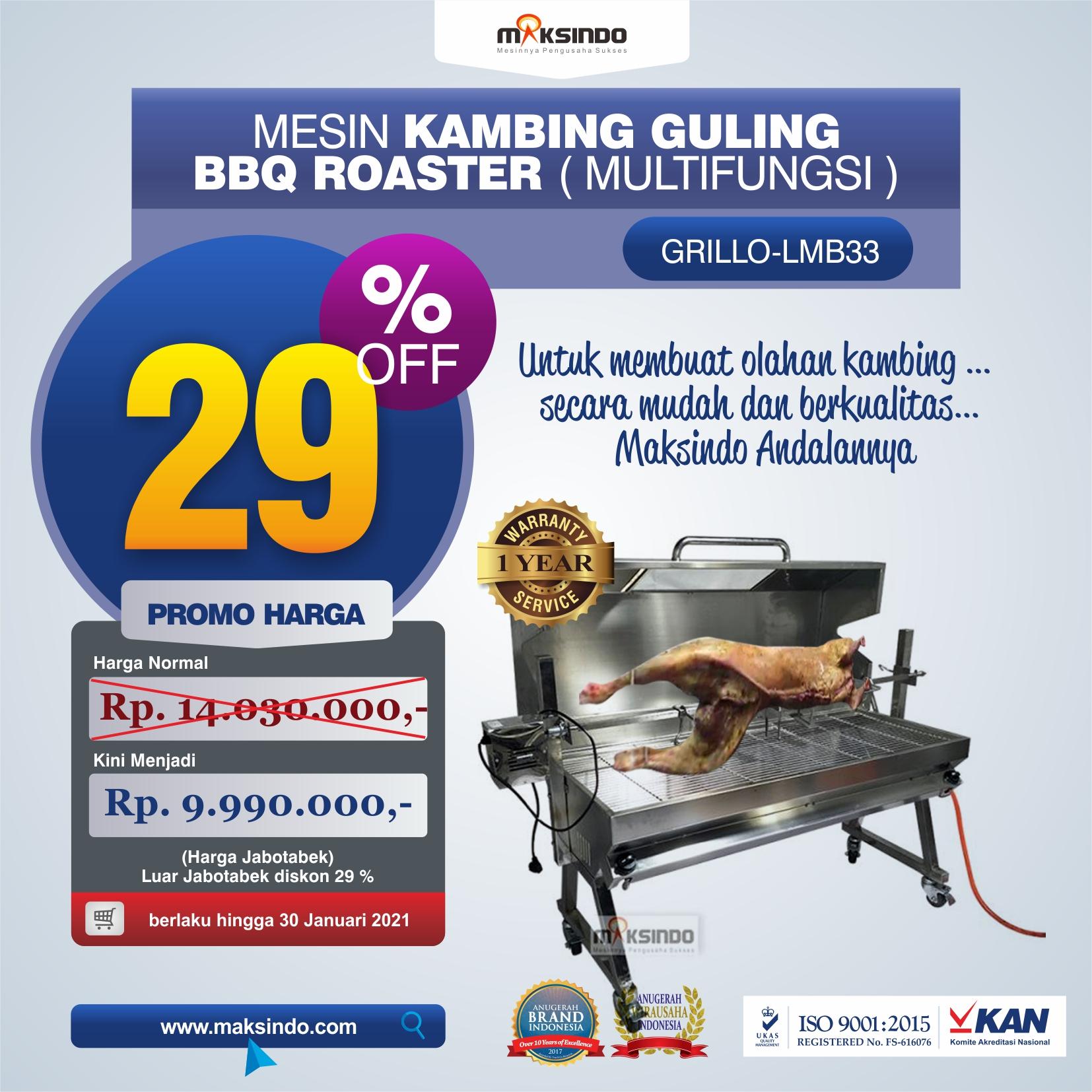 Jual Mesin Kambing Guling BBQ Roaster (GRILLO-LMB33) di Tangerang