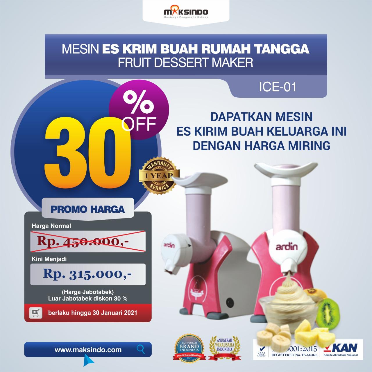 Jual Mesin Es Krim Buah Rumah Tangga di Tangerang