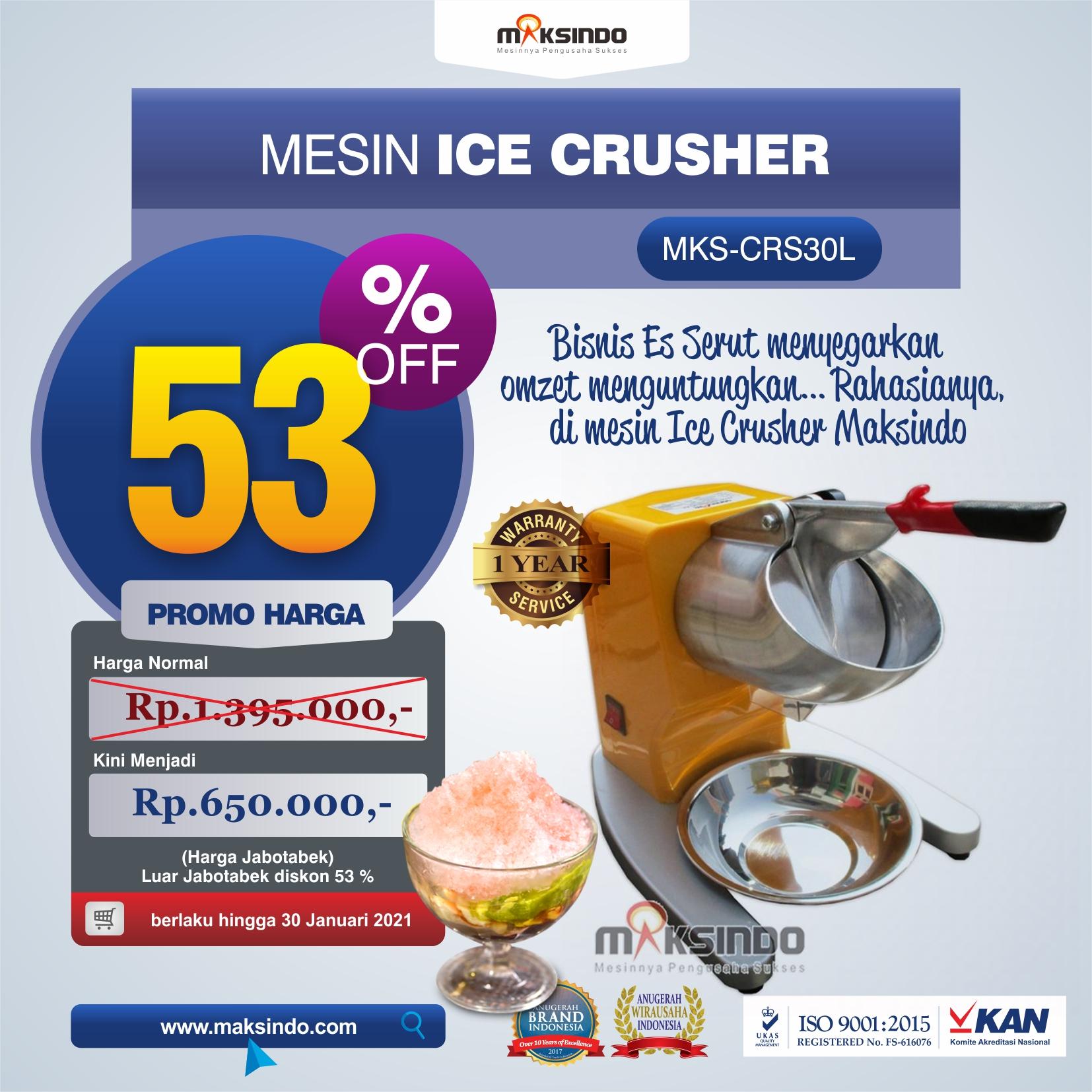 Jual Mesin Ice Crusher MKS-CRS30L di Tangerang