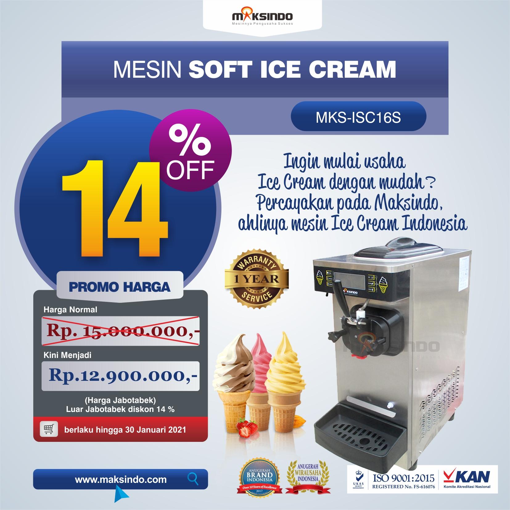 Jual Mesin Soft Ice Cream ISC-16S di Tangerang