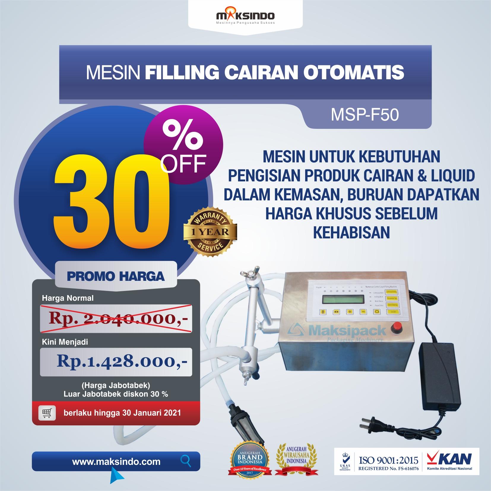 Jual Mesin Filling Cairan Otomatis MSP-F50 di Tangerang
