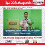 Susu Kedelai Pak Irwan : Hasil Memuaskan Berkat Mesin Susu Kedelai Maksindo