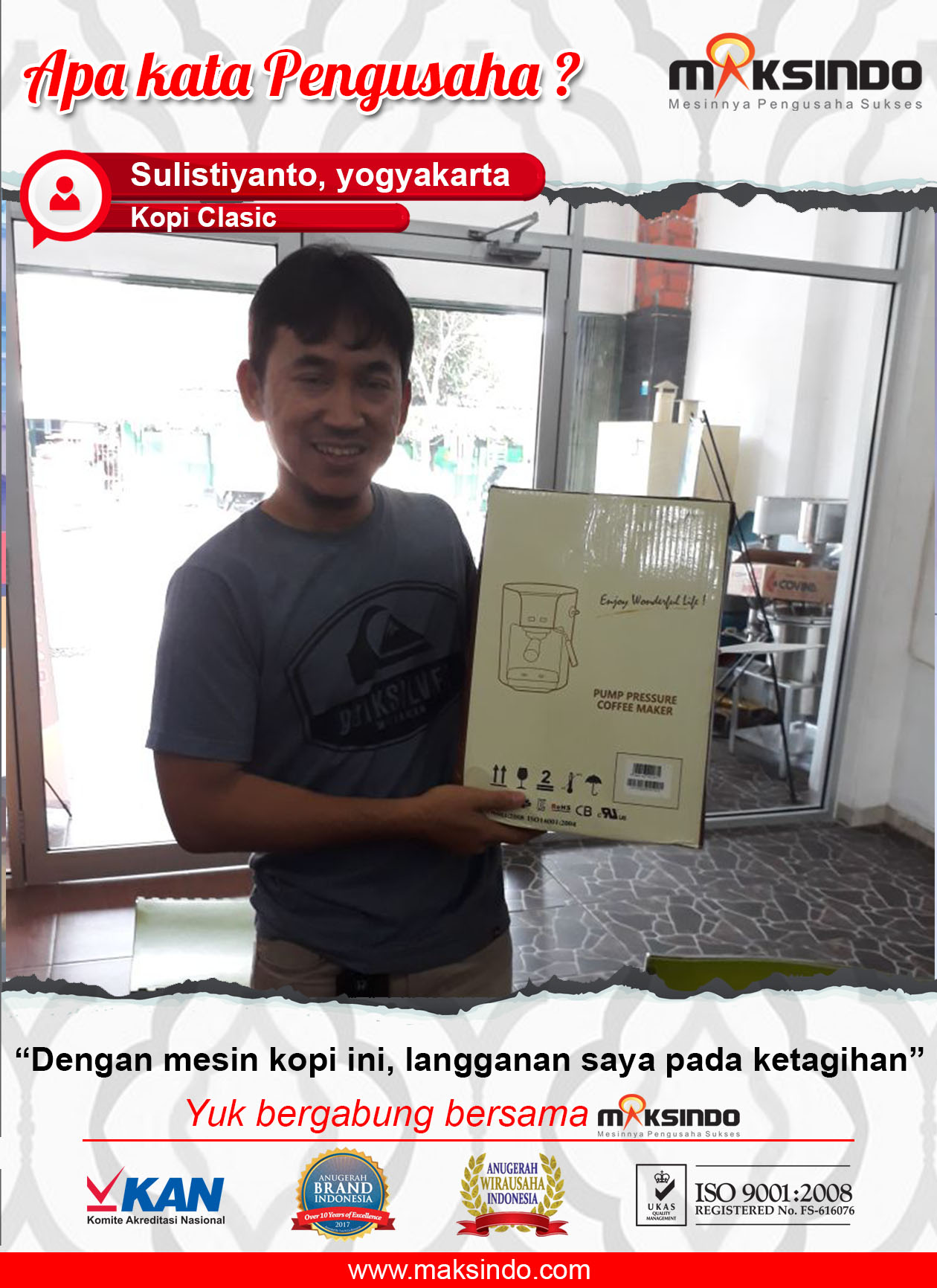 Kopi Clasic : Usaha Saya Makin Lancar, Pelanggan Makin Ketagihan Berkat Mesin Kopi dari Maksindo