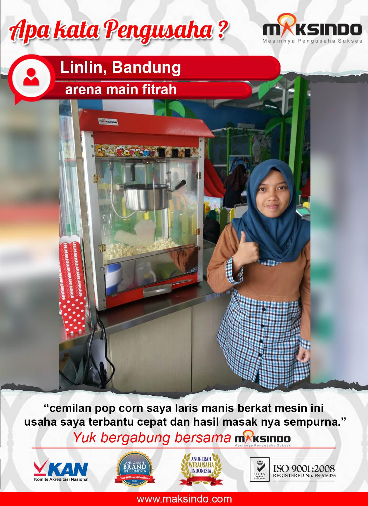 Arena Main Fitrah : Pop Corn Menjadi Laris Manis