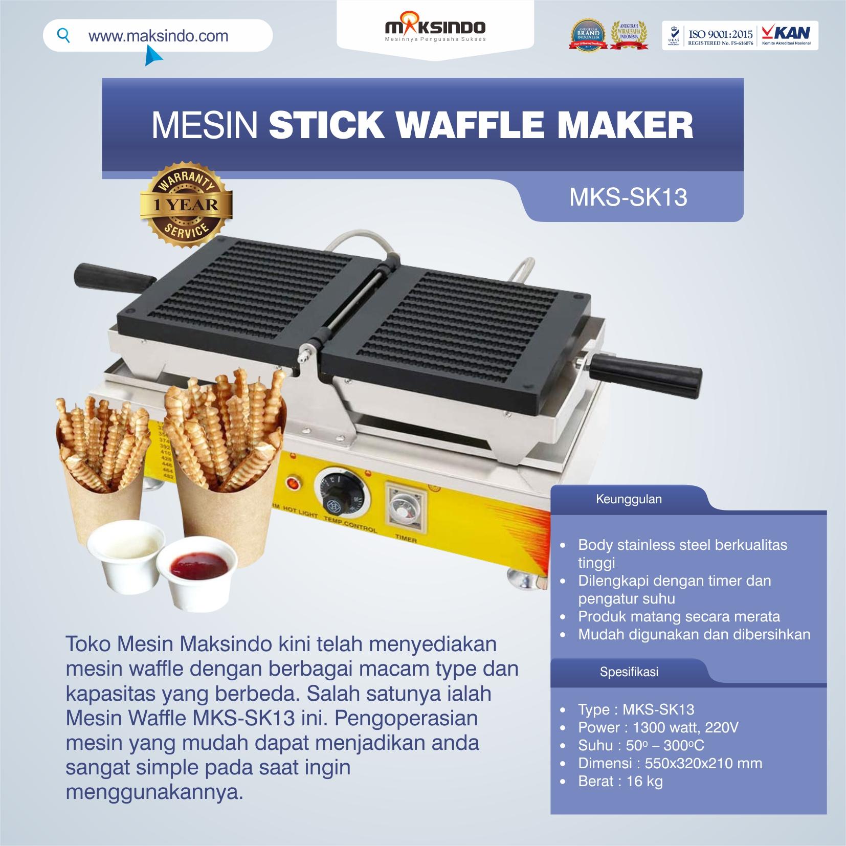 Jual Mesin Stick Waffle Maker MKS-SK13 di Tangerang