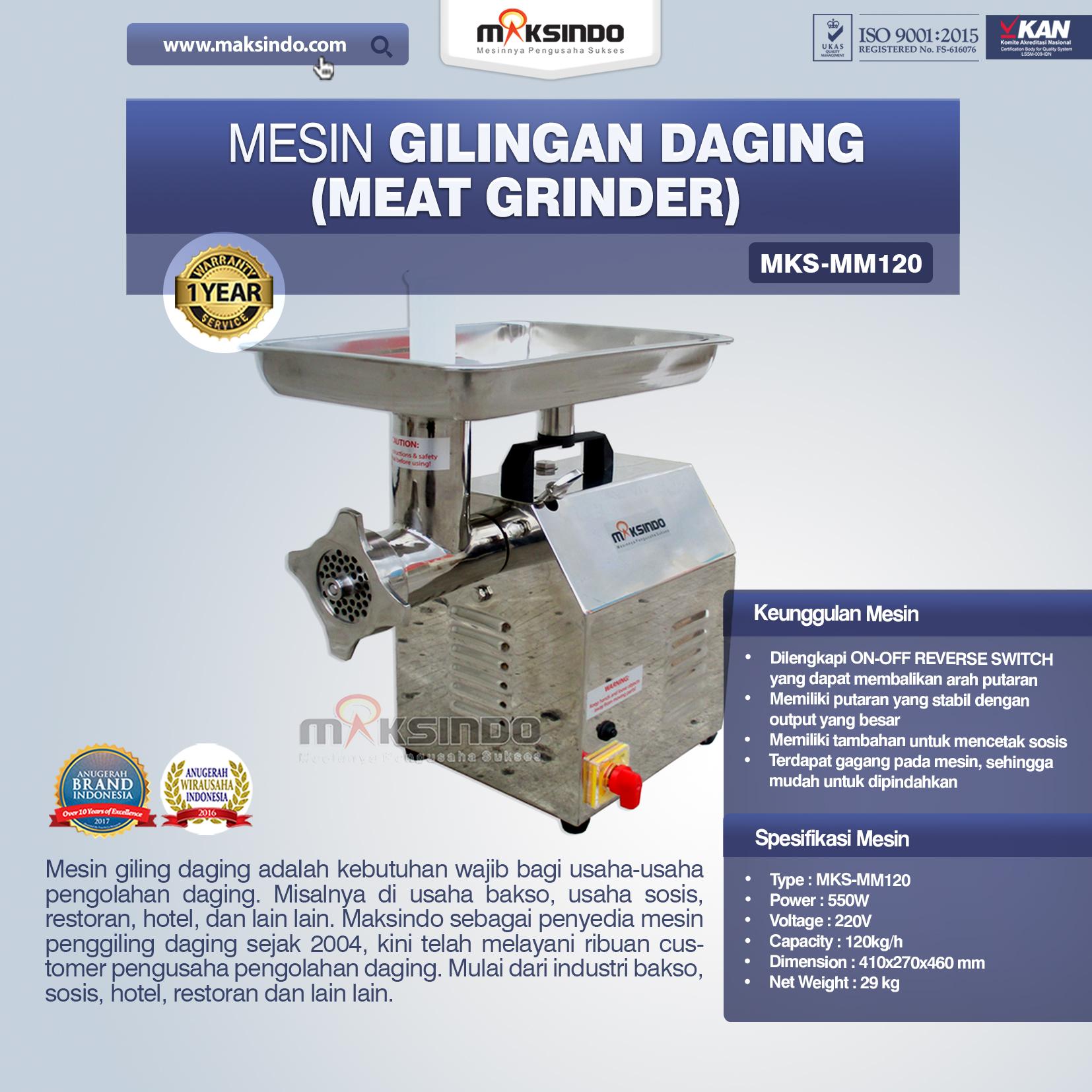 Jual Mesin Giling Daging (Meat Grinder) MKS-MM120 di Tangerang