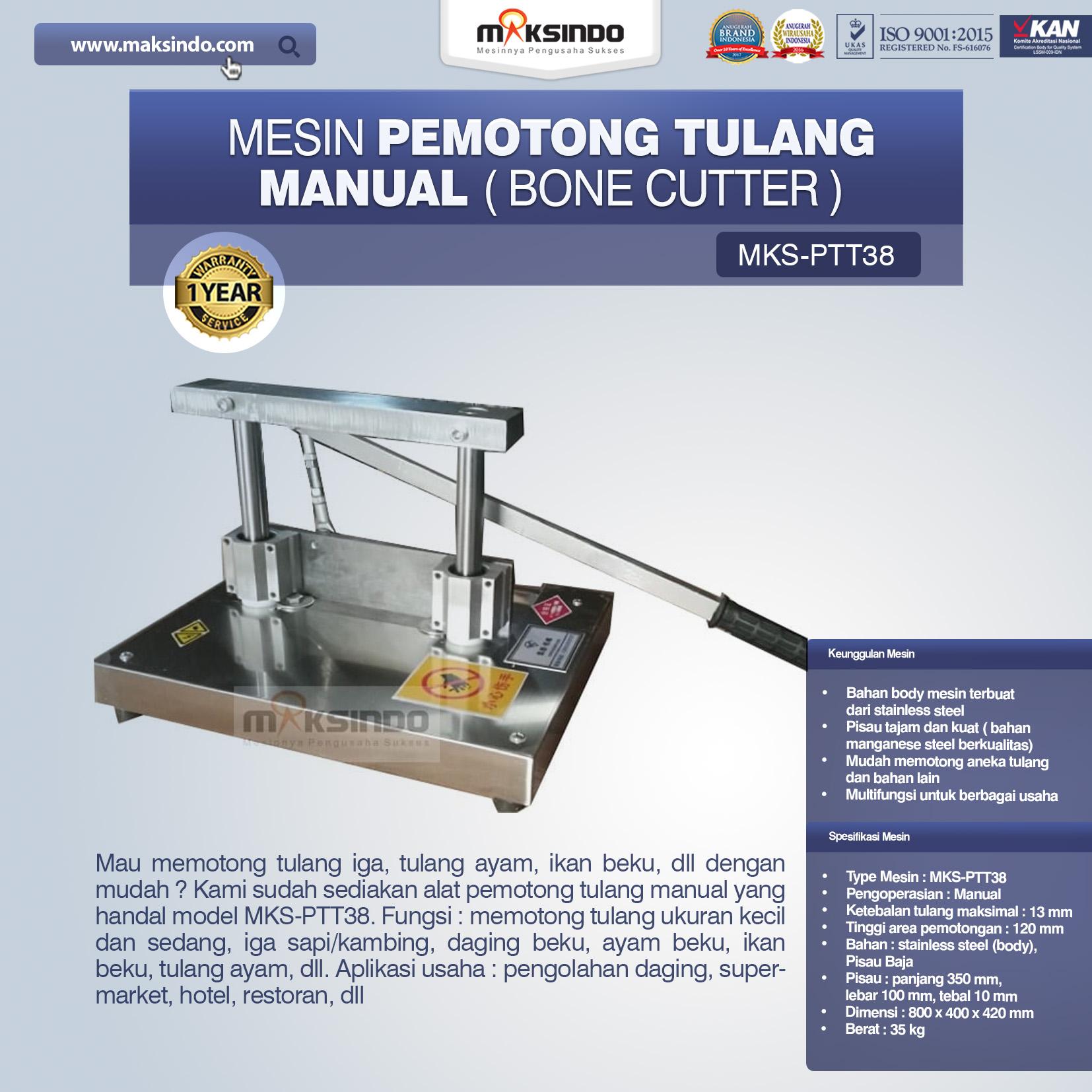 Jual Pemotong Tulang Manual (PTT38) di Tangerang