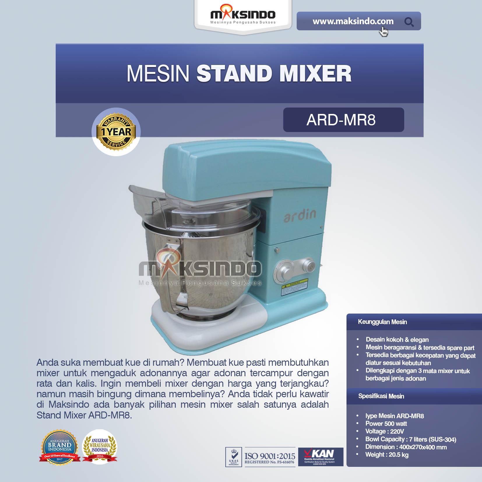 Jual Stand Mixer ARD-MP8 di Tangerang