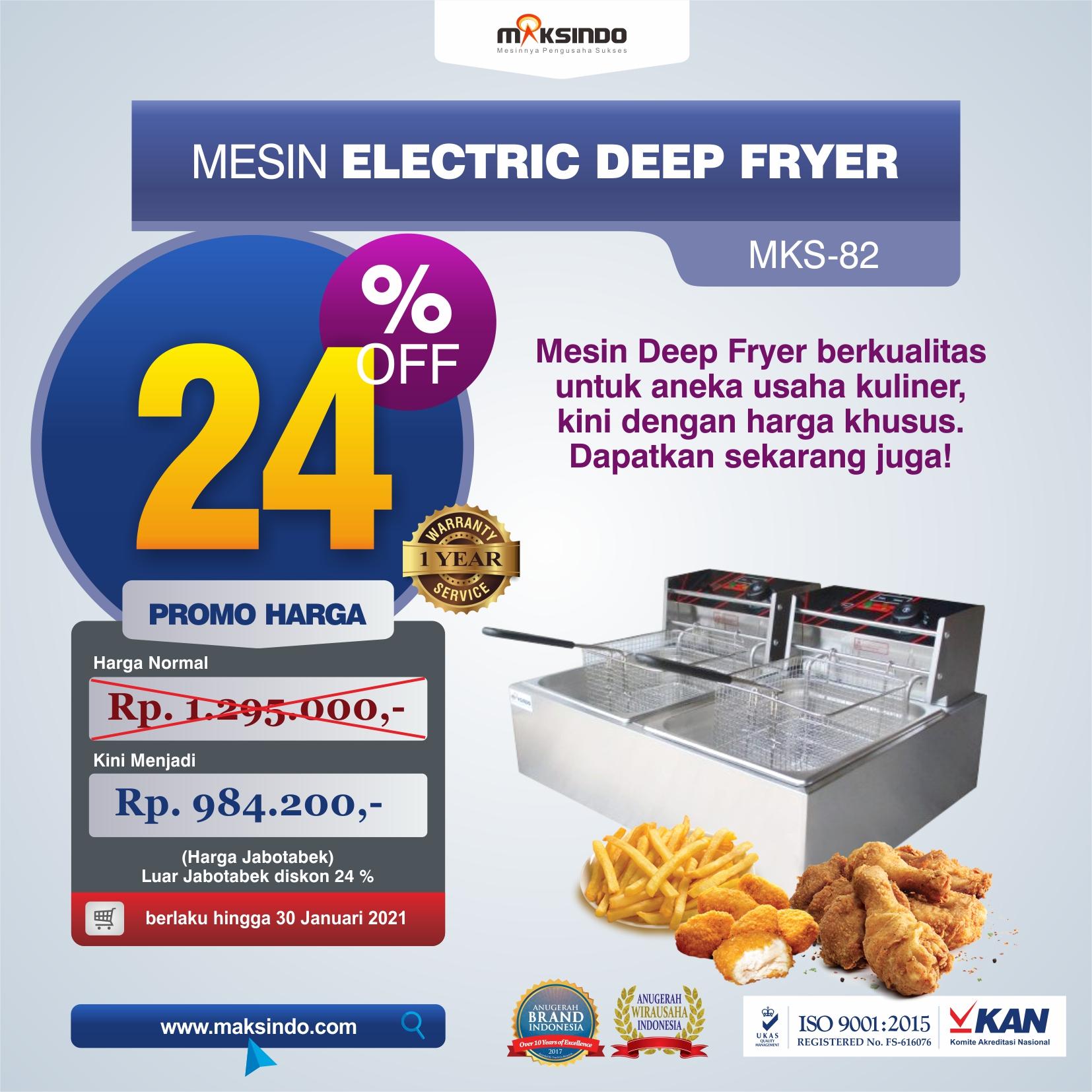 Jual Mesin Electric Deep Fryer MKS-82 di Tangerang