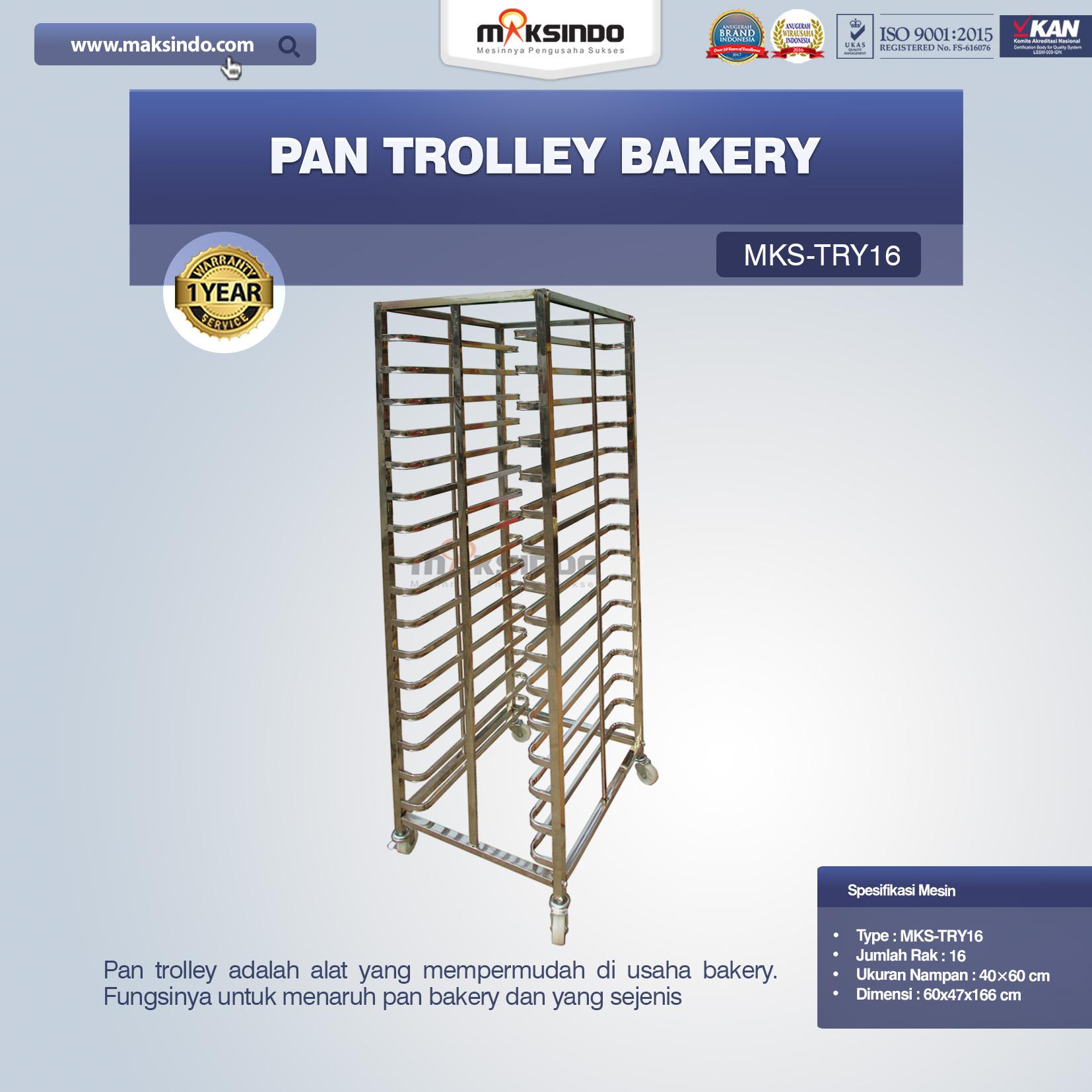 Jual Pan Trolley Bakery (MKS-TRY16) di Tangerang