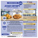 Training Sukses Ayam Crispy Untuk Usaha, Sabtu, 23 November 2019