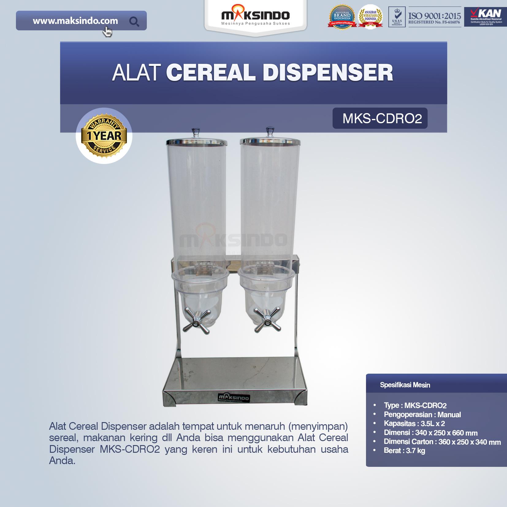 Jual Alat Cereal Dispenser MKS-CDR02 di Tangerang