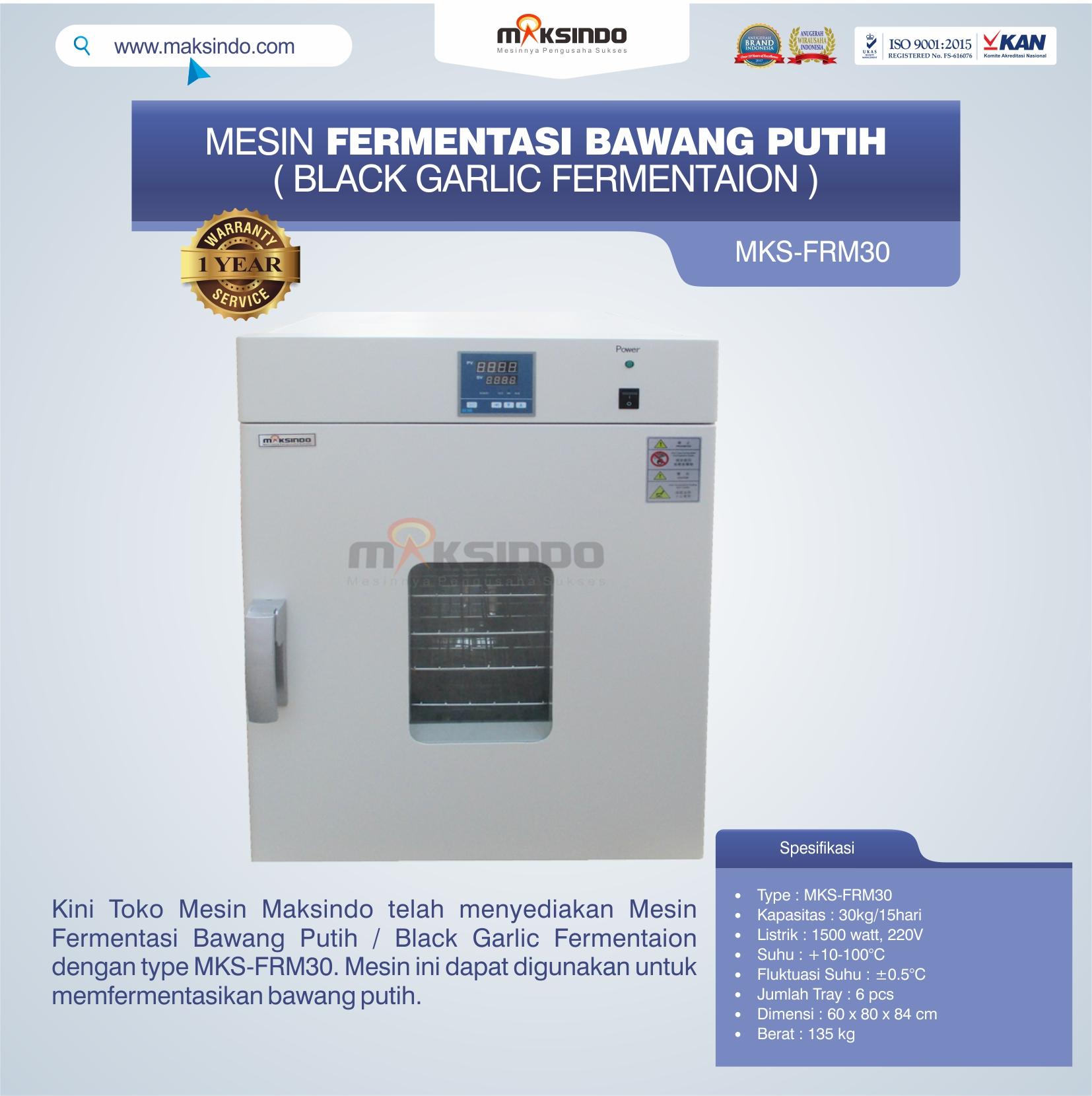 Jual Mesin Fermentasi Bawang Putih / Black Garlic Fermentaion MKS-FRM30 di Tangerang