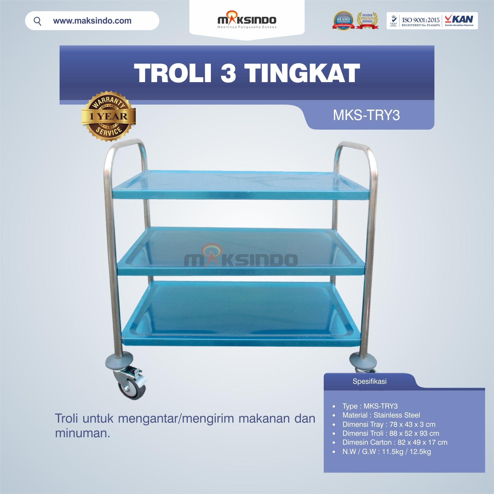 Jual Troli 3 Tingkat MKS-TRY3 di Tangerang