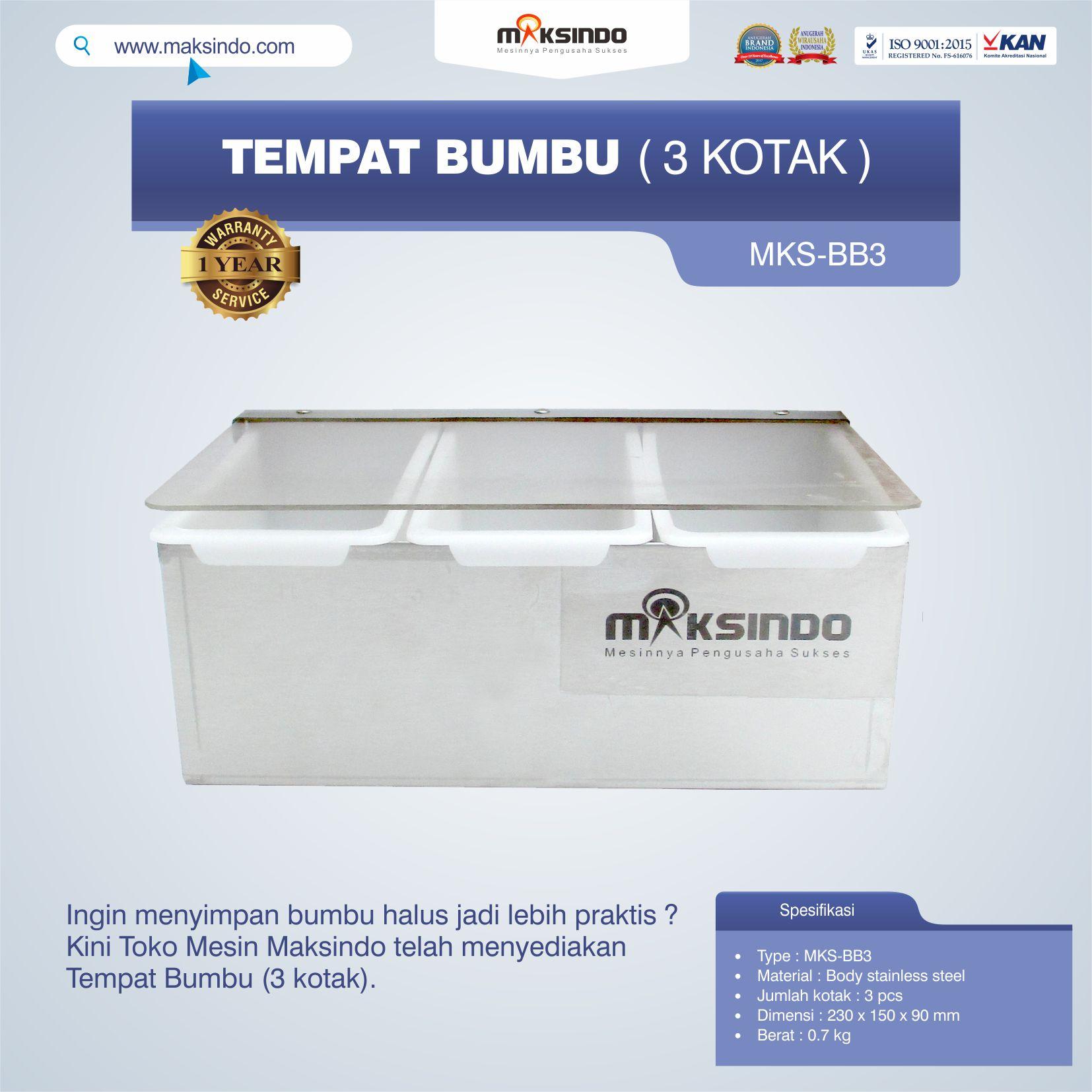 Jual Jual Tempat Bumbu (3 kotak) di Tangerang