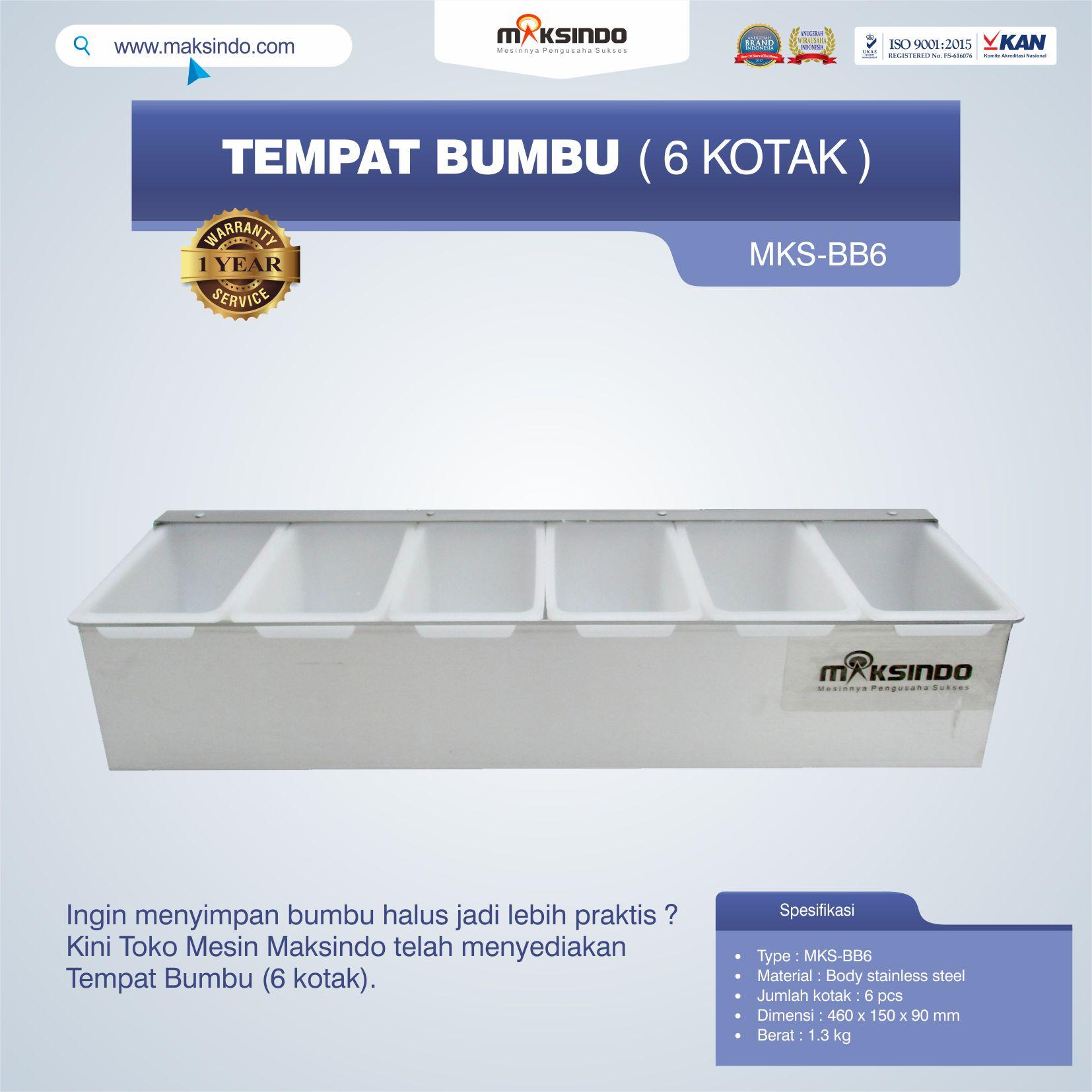 Jual Tempat Bumbu (6 Kotak) Di Tangerang