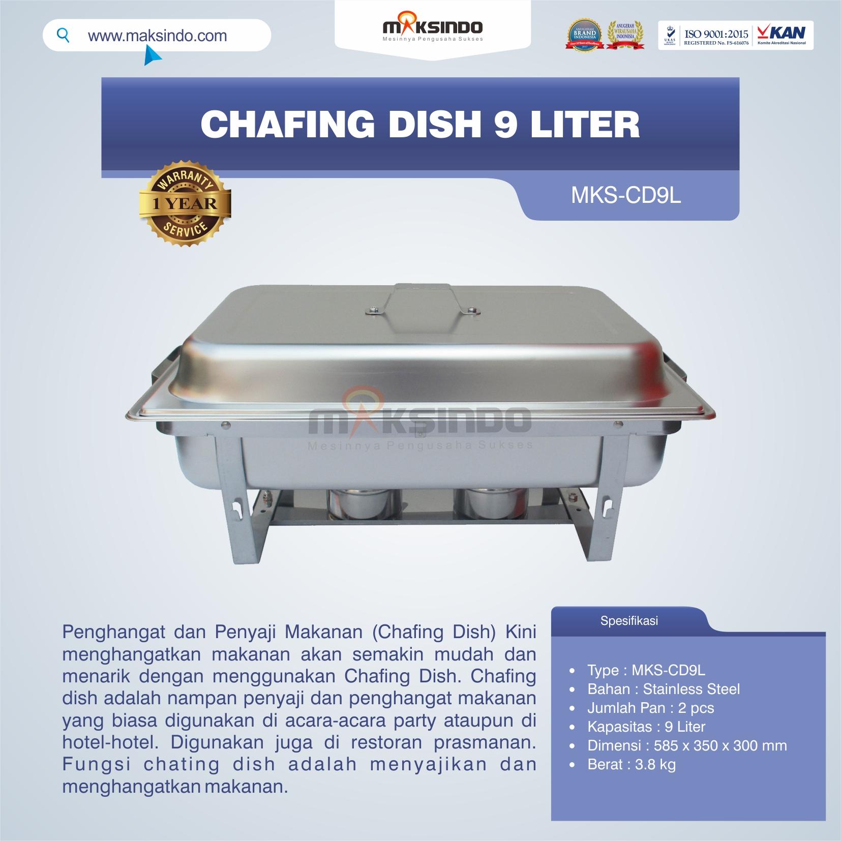 Jual Chafing Dish 9 Liter di Tangerang