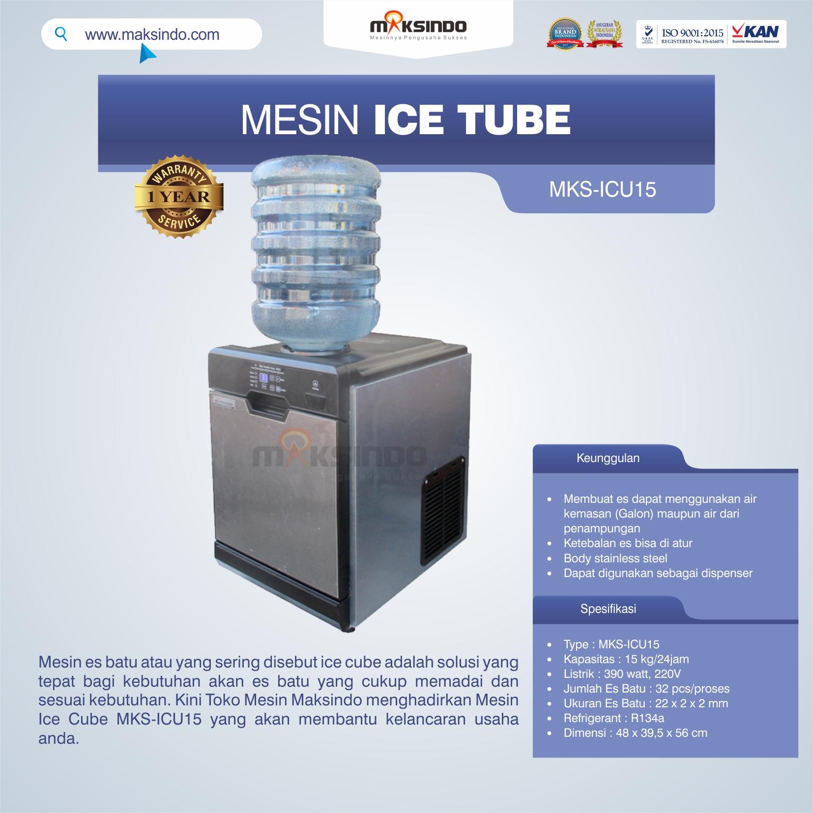 Jual Mesin Ice Cube MKS-ICU15 di Tangerang