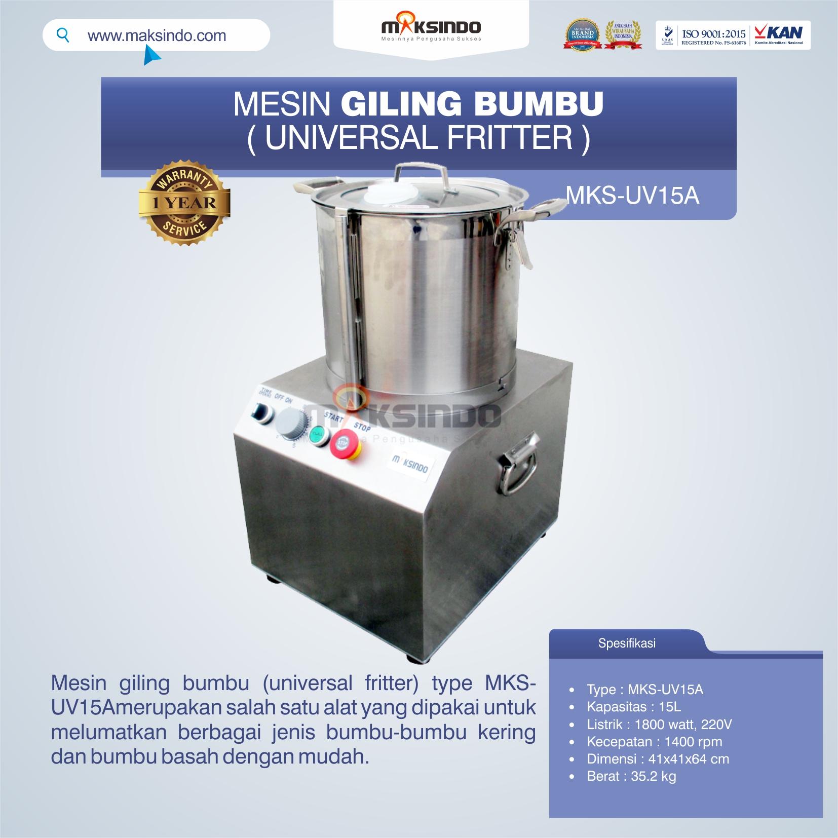 Jual Mesin Giling Bumbu (Universal Fritter) MKS-UV15A di Tangerang