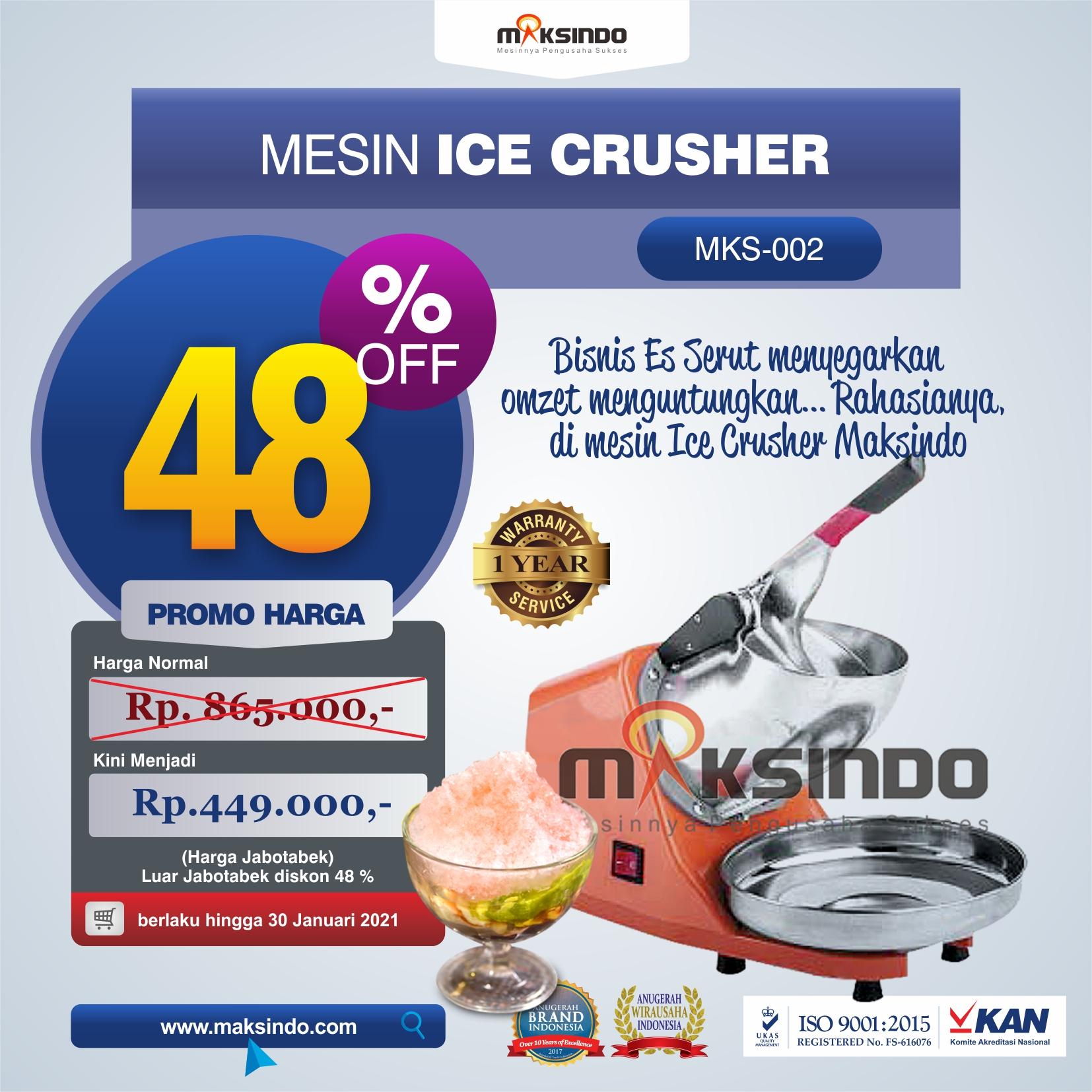 Jual Mesin Es Serut (Ice Crusher- MKS002) di Tangerang