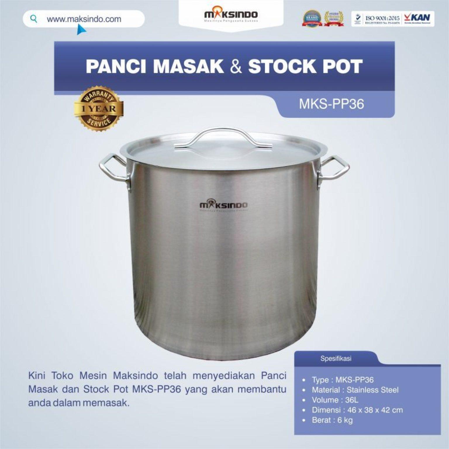 Jual Panci Masak Dan Stock Pot MKS-PP36 di Tangerang