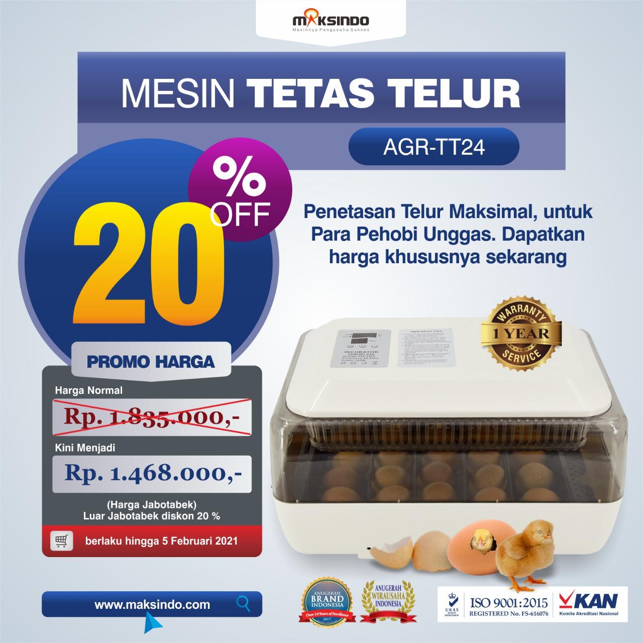 Jual Mesin Penetas Telur New Model di Tangerang